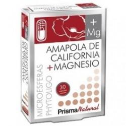 Amapola de California mas magnesio 30 cap Prisma Natural