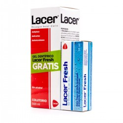 Lacer Colutorio 500ml+Lacer Fresh Gel Dentífrico 35ml Pack